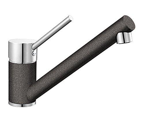 Blanco Antas Küchenarmatur / Einhebelmischer Silgranit-Look in Anthrazit-Chrom mit schwenkbarem Auslauf / Hochdruck