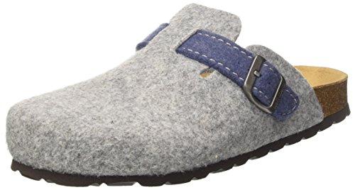 GRÜNLAND Cb0683, Pantofole Aperte sulla Caviglia Donna Grigio (Grigio/Avio)
