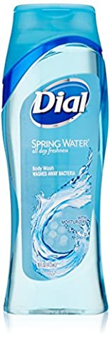 Dial All Day Freshness Antibacterial Body Wash with Moisturizers, Spring Water Scent- 16 oz (Pack of 3) by Dial