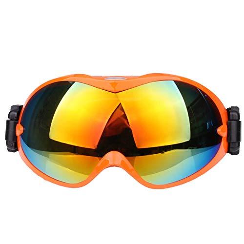 Aienid Fahrradbrille Winter Orange Schneebrille Winddichter Augenschutz Size:18X9.5CM