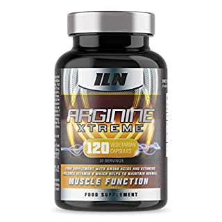 Iron Labs Nutrition, Arginine Xtreme - 2,600mg x 30 Day Supply - L-Arginine Supplement with Vitamin D for Normal Muscle Function (120 Capsules)