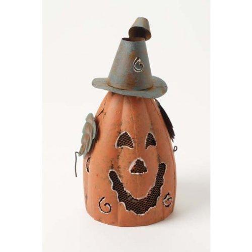 Halloween-Laterne in Kürbisform, aus Metall