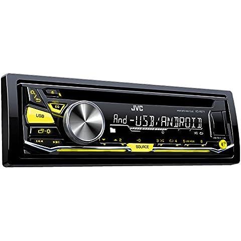 JVC KD-R571 - Radio para coche (WAV, MP3, WMA, FLAC, 87,5 - 108 MHz, 531 - 1611 kHz, 153 - 279 kHz, LCD,