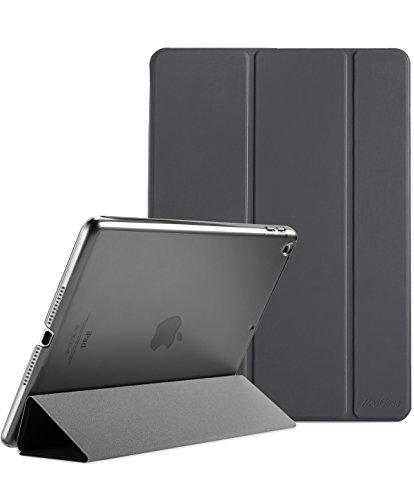 ProCase iPad 9.7 Hülle 2018 iPad 6 Generation /2017 iPad 5 Generation Tasche - Äußerst Schlank Leichtgewicht Ständer mit Transluzent Matt Rückseite Intelligente Hülle für Apple iPad 9.7 Zoll -Grau