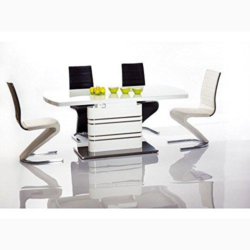 JUSTyou Gucci Table à rallonge Blanc 76 x 85 x 140-200 cm