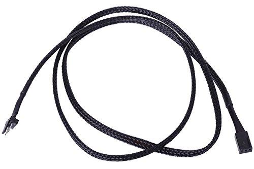 3Pin Molex Ultra lang 90cm - Schwarz Kabel Lüfterkabel und Adapter ()