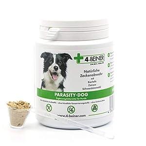 4-Beiner PARASITY-Dog: Protection Naturelle Contre Les tiques pour Chiens avec levure de bière, extrait de ciste et huiles essentielles de Cumin Noir, Beaucoup de vitamines b, 80 g de Poudre