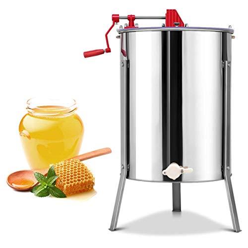 Hehilark Manuelle Honigschleuder 4 Rahmen Waben Honig Edelstahl DN Zander Imker Schleuder Honey Extractor Honeycomb mit Uncapping Knife