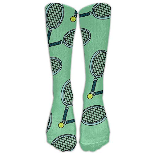 tianjianzulinyouxiangongsi Tennis Ball and Racket Comfort Cool Vent Crew Socks,One Size (50CM) -