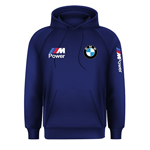 Men's BMW M Power Beamer Motorsport M Sport Hoodie Jumper Top (Large) Navy