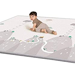 LIUNIAN - Alfombra de Juegos para bebé, para bebés de 12 a 36 Meses, Suelo de Espuma XPE, Antideslizante, no tóxico, 1 cm de Grosor, Alfombra Impermeable de Doble Cara, 200 x 180 cm, Extragrande