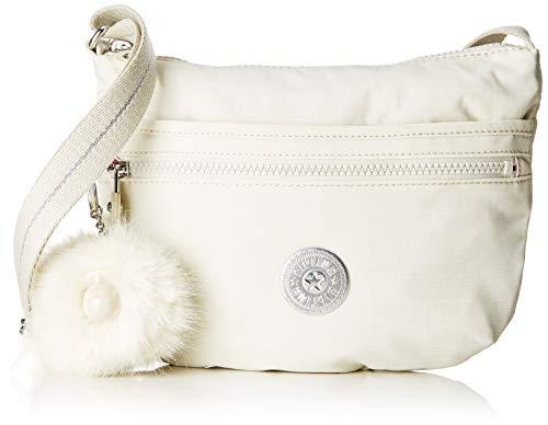 Kipling Damen ARTO S Umhängetasche Weiß (Dazz White) 25x21x3 cm -