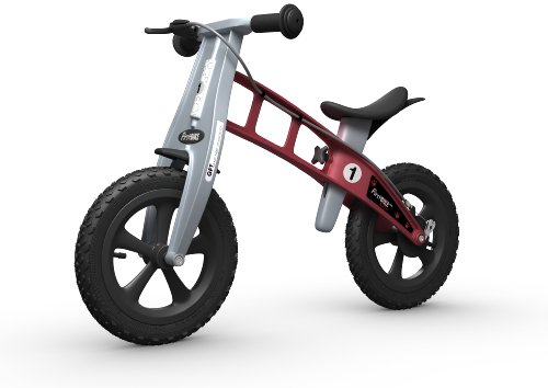 FIRSTBIKE - Bicicleta de Equilibrio con Freno, Modelo Cross, Color Rojo (L2004)