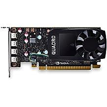 PNY nVidia Quadro P600 Scheda Grafica da 2 GB, 384 Cuda Core, Adattatori DP, Nero