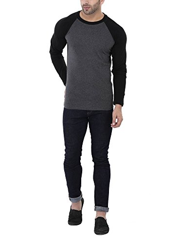 Katso-Mens-Cotton-T-Shirt-KATSO-REGLAN-FULL-DARKGREY-L-Dark-Grey-Large