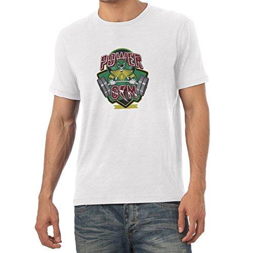 TEXLAB - Power Gym - Herren T-Shirt Weiß