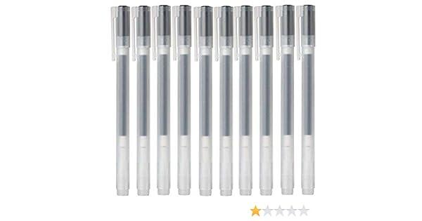 10/pz 2019/New Ver. Muji inchiostro gel penna a sfera nero 0.38-mm tipo