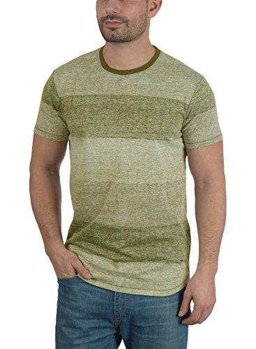 SOLID Teine Herren T-Shirt Rundhals Kurzarmshirt aus hochwertiger Baumwollmischung Duffel Bag Green (3590)