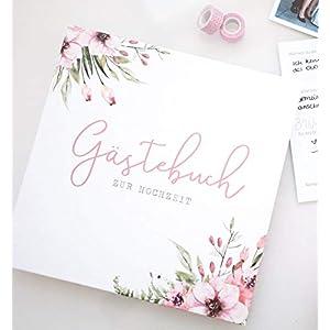 Gästebuch zur Hochzeit mit Fragen | Wild Flowers