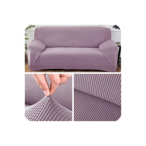 Polar Fleece Stoff Universal-Sofa-Abdeckung für Wohnzimmer Stretch-Ecksofa Cover, Farbe Lila, 1-Sitz 90-140cm Lila Polar-fleece