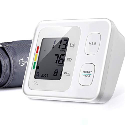 Druckmessgerät, Oberarm-Blutdruckmessgerät, Herzfrequenzmessgerät, Messgeräte Für Elektronisches Messgerät, Automatisches BPM-Blutdruckmessgerät, Genau, Tragbar Und Perfekt Für Den Heimgebrauch, Weiß