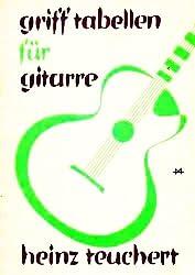 Grifftabellen für Gitarre: 1. Abschnitt Grifftabellen für Konzertgitarre - 2. Abschnitt Grifftabellen für Schlag-Gitarre (Illustrierte Ausgabe mit Notentexturen) [Broschiert] (Musik-Sachbuch)