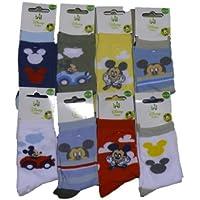 Set di 3, 6, 9paia di calzini Disney Topolino Baby–Assortie.