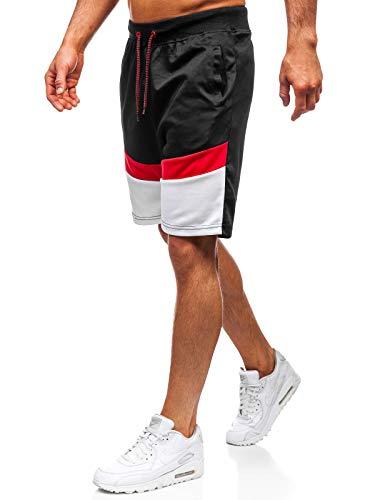 Bolf pantaloncini - corti - estivi - sportivi - da allenamento - leggeri - uomo j.style 81021 neri l [7g7]