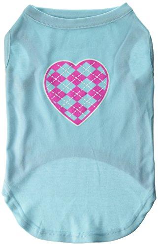 Mirage Pet Products Argyle Herz pink Screen Print-Shirt Aqua XL (16) - Aqua-herz Shirt