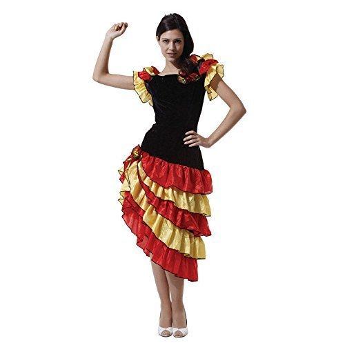 Flamenco Damen Kostüm - Rubber Johnnies TM SPANISCH Tänzer- Kostüm, Flamenco Damen Kostüm, One Größe 8/10/12