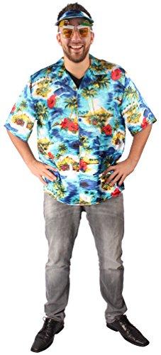 (KARNEVALS-GIGANT Hawaii Kostüm bunt für Herren | Größe 58 | 2-teiliges Urlaubsoutfit | Surfer Faschingskostüm für Männer | Hawaiikostüm für Karneval)