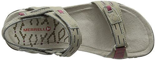 Merrell Terran Strap Ii, Sandales Bout Ouvert Femme Beige (Taupe/Hawthorne)
