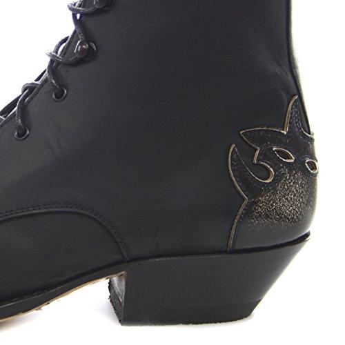 Sendra boots 11699 western schnürstiefelette bottines pour femme (plusieurs coloris) Noir - Negro Blanco