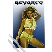 Póster + Soporte: Beyonce Knowles Póster (91x61 cm) Crazy In Love Y 1 Lote De 2 Varillas Transparentes 1art1®