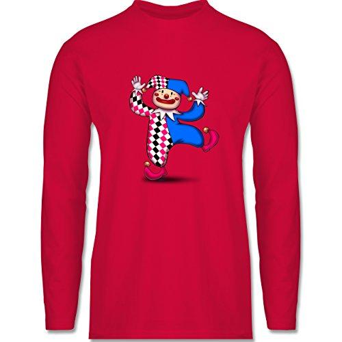 Shirtracer Karneval & Fasching - Tanzender Clown - Herren Langarmshirt Rot