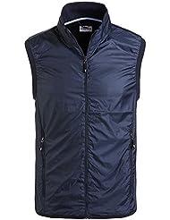 Chaleco de golf profesional de caballero con Wind Protection, sin relleno, ligeroy transpirable Azul L