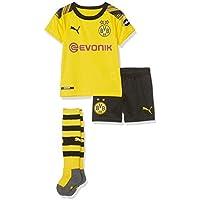 PUMA Kinder BVB Home Minikit Socks Evonik with OPEL Logo Trikot