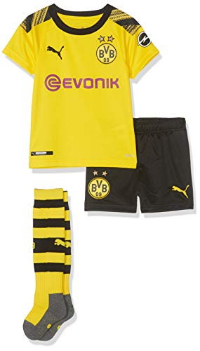 PUMA Kinder BVB Home Minikit Socks Evonik with OPEL Logo Trikot, Cyber Yellow Black, 110 -