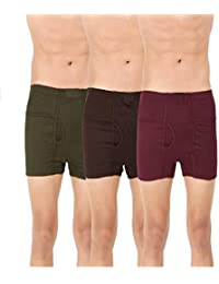 Clever Men's Multi Cotton Trunk Pack of 3