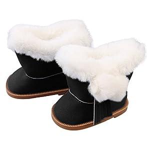 Puppenschuh, YUYOUG 1 Paar Plüsch Winter Warme Schneeschuhe Für 18 Zoll American Girl Dolls Mini Schuhe Mädchen Spielzeug Weihnachten Geburtstagsgeschenk
