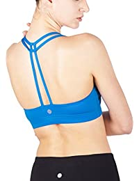 07e012e7dd Queenie Ke Women s Light Support Cross Back Wirefree Pad Yoga Sports Bra