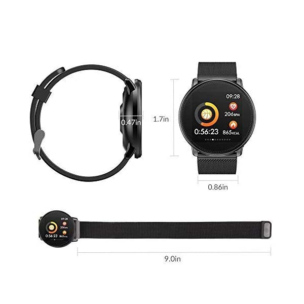 TDOR Smartwatch con Whatsapp Hombre Mujer Reloj Inteligente Android iOS Deportivo 7