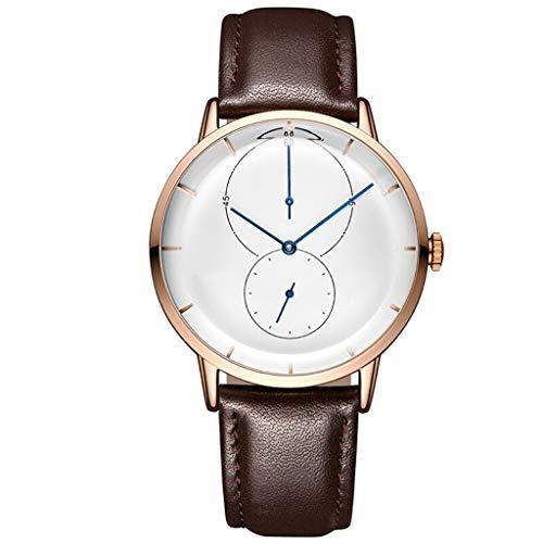 Qqzmd 2147 Reloj Deportivo para Hombres, versión Coreana de los Segundos Independientes ultrafinos...