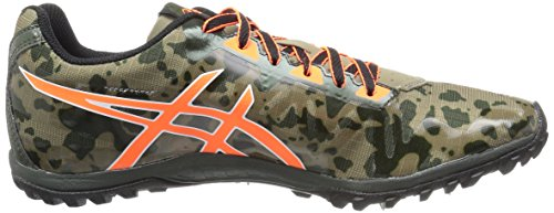 Asics Cross Freak 2 Maschenweite Laufschuh Dusky Green/Hot Orange/Duffel Bag