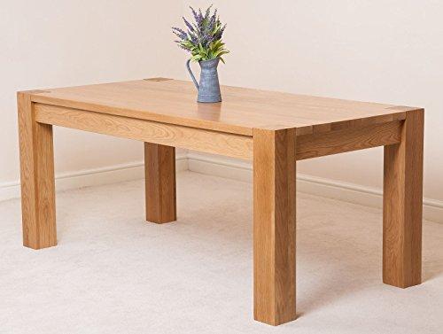 kuba chunky 180cm kitchen solid oak dining table