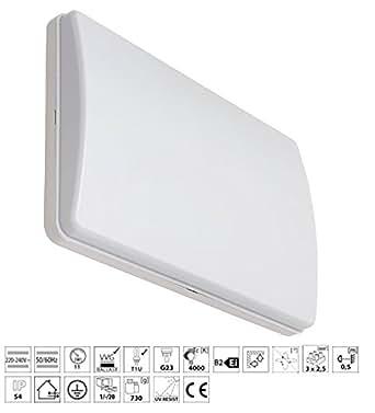 Hermétiques applique murale/plafonnier avec tube fluorescent plafondbeleuchtung iP54