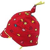 Maximo Mädchen Baby-Mütze Ringel Bunte Äpfel rot-neon-grün UV-Schutz 50+, Gr. 43 (43)