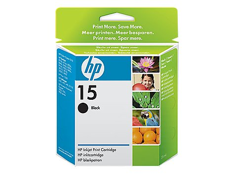 Preisvergleich Produktbild HP Inc. 15, Black, 25ml Pages: 500, High capacity, C6615DE#301 (Pages: 500, High capacity Blister multi tag)
