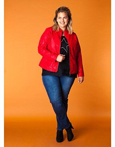 x-two Jacke Übergangsjacke Wildleder-Imitat für mollige Damen in Rot - 2