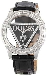 Guess - W10216L2 - Montre Femme - Quartz Analogique - Bracelet Cuir Noir